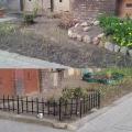 Axentowicza 5 - ogródek tuż po skończeniu prac