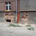 Ściana przed przemurowaniem