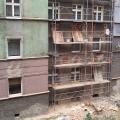 Naprawa szkód górniczych od strony podwórza, przy ul. Fałata - 2013.09.02