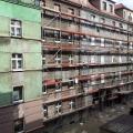 Naprawa szkód górniczych od strony podwórza, przy ul. Fałata - 2013.10.01